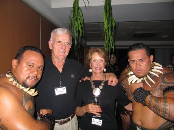 Honorary Polynesians, Ruth Ann and Tom Hornaday