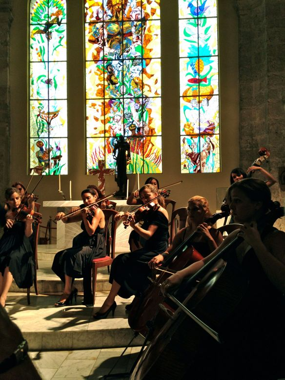 Camerata Romeu chamber orchestra in the San Francisco Church.