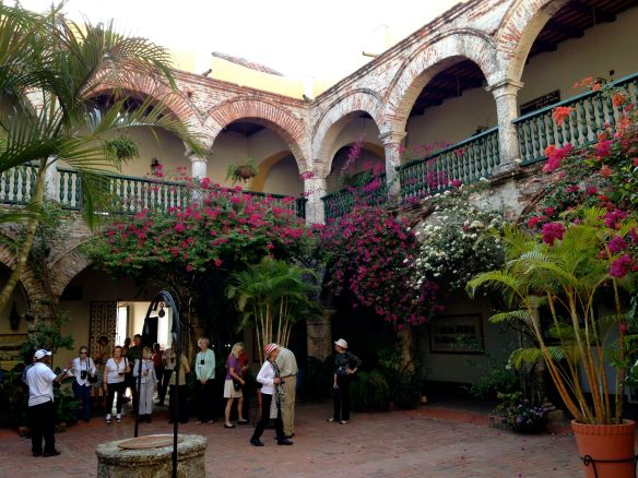 Monastery courtyard.