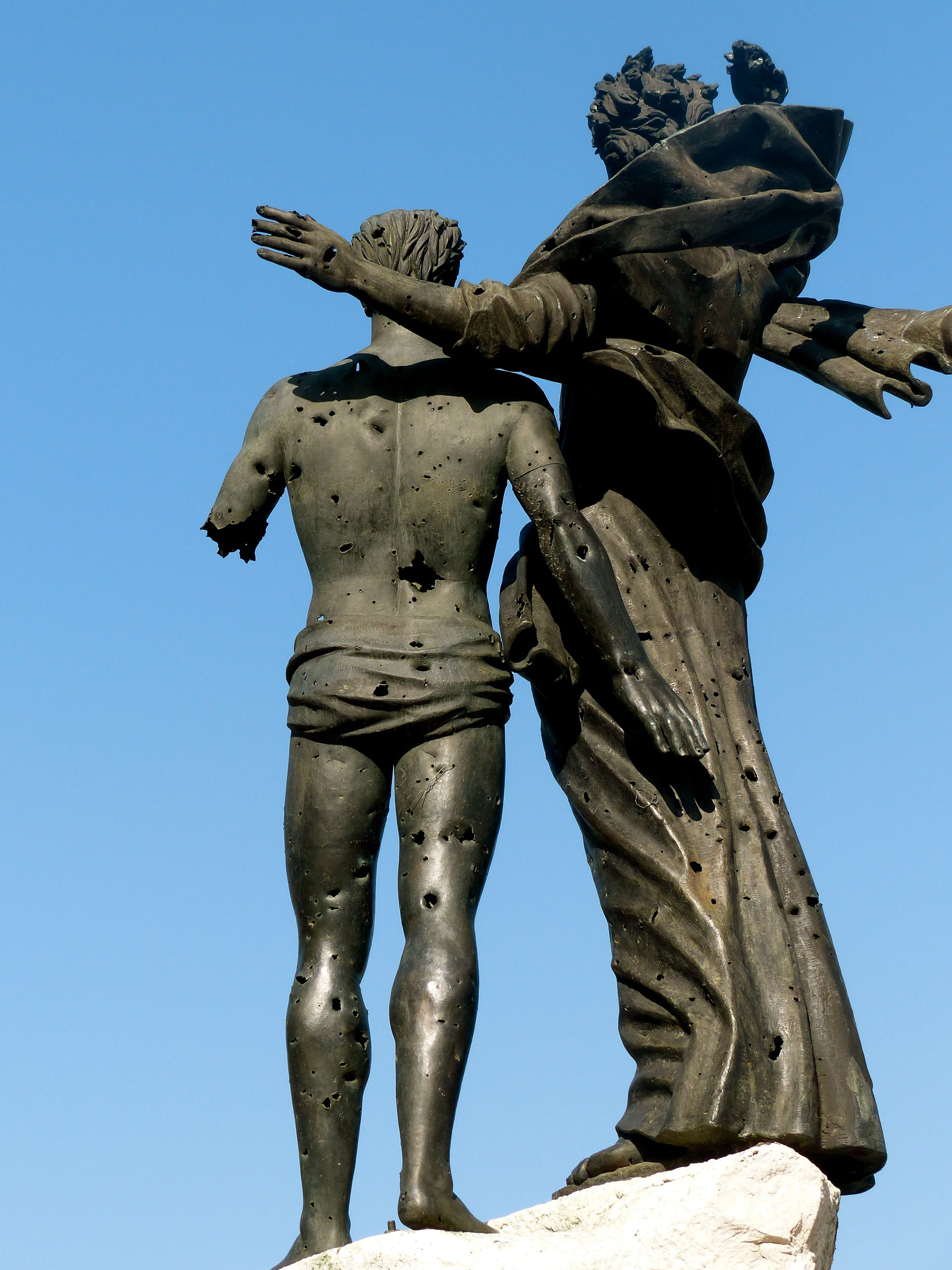 The bronze Martyrs statue are the only features left of the Martyrs ...